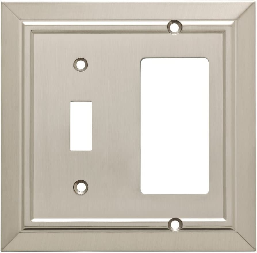 Franklin Brass W35222-SN-C Classic Architecture Switch/Decorator Wall Plate/Switch Plate/Cover, Satin Nickel