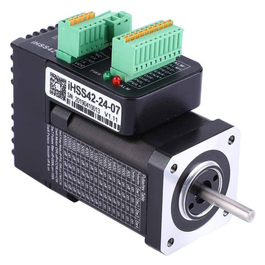 Integrated Servo Motor , iHSS42-24-07 Integrated Closed Loop Stepper Motor 24V 0.7Nm Hybrid Servo Motor by Taidda