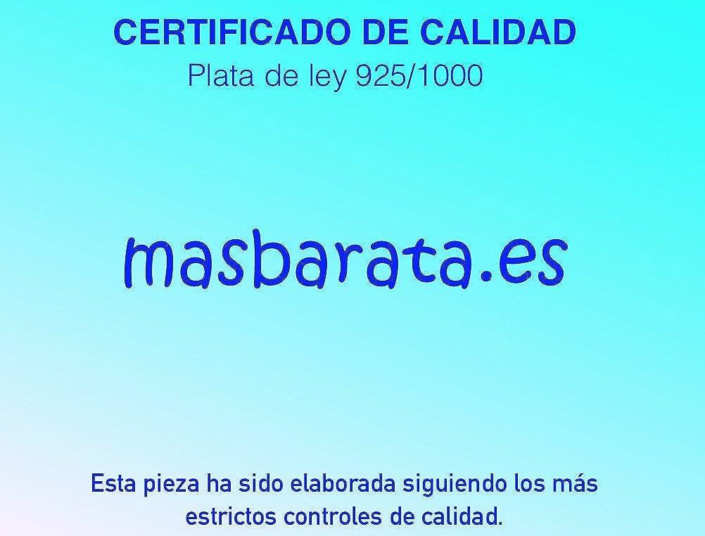 PENDIENTE DE PLATA DE LEY 925 MLS. AROS CON CRUZ. MASBARATA: Amazon.es: Joyería