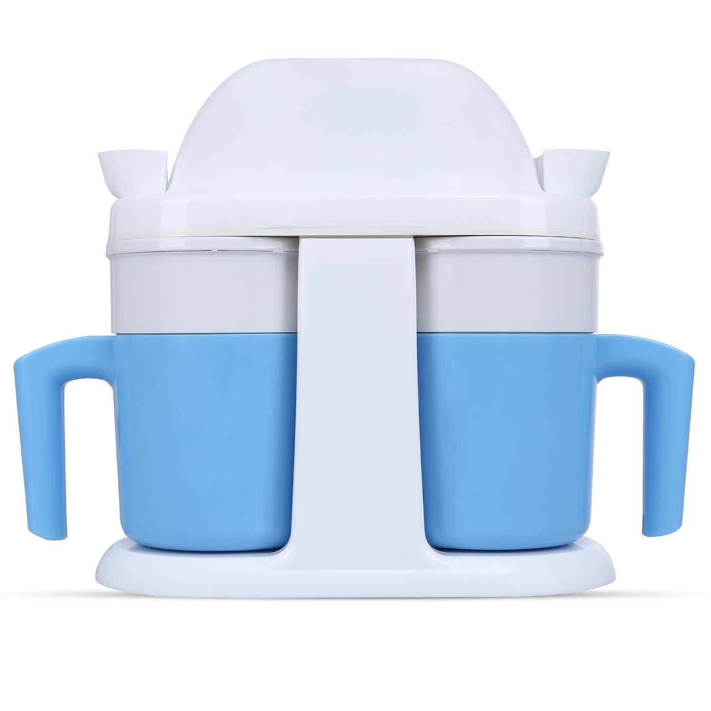 Ice Cream Maker,PowerDoF LX-1504D Frozen Yogurt Double Mini Ice Cream Machine for Home