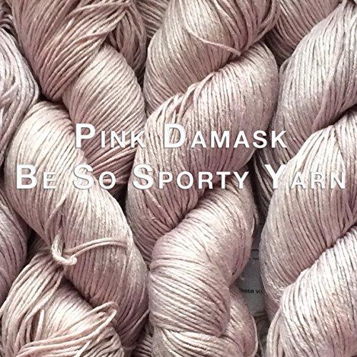 Kristin Omdahl Yarns Be So Sporty Bamboo Yarn Pink Damask - Sport Weight Knitting Patterns