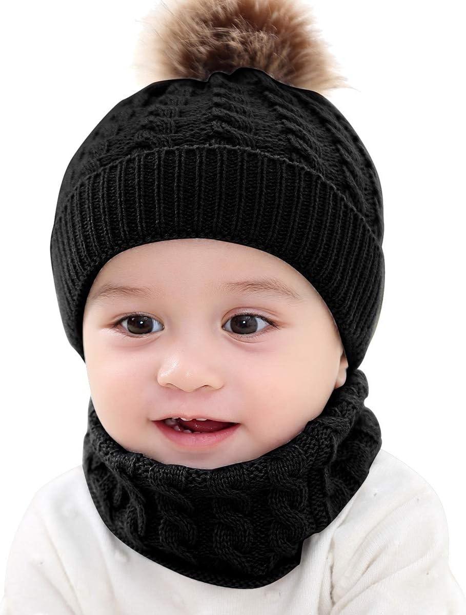 XingYue Direct Monos Bufanda Bufandas Gorro cálido bebé recién Nacido Crochet Gorro de Punto Bufanda Cuello niños niño niña Invierno cálido: Amazon.es: Deportes y aire libre