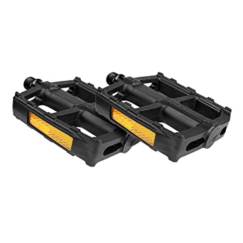 Bike Pedal Set 9//16-Inch Boron Steel Spindle BV-PD1 Bicycle Pedals