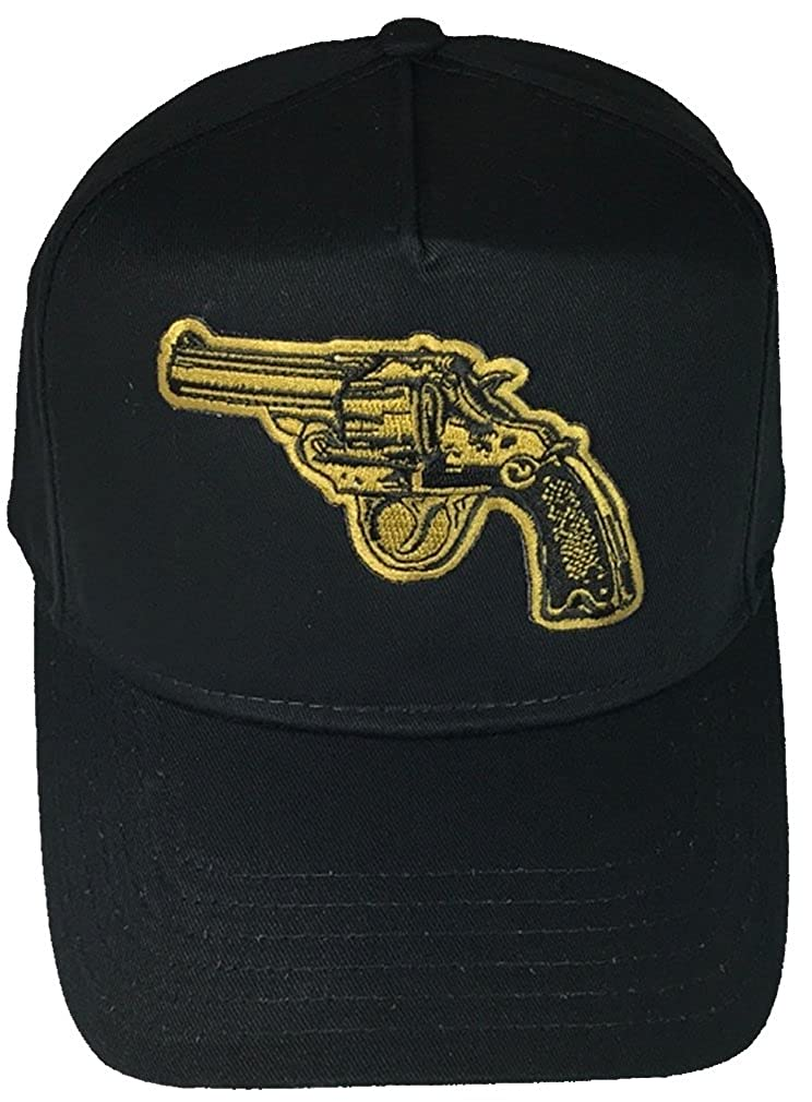 BLACK Veteran Owned Business GOLD REVOLVER HAT