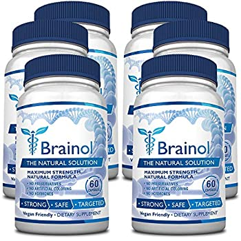 Image of Brainol - The Smartest Choice for a Brain Boosting Nootropic. 360 Capsules (6 Months Supply). Enhance Mental Performance, Focus & Clarity - With DMAE, Huperzine A & More. 100% Money Back Guarantee Health and Household