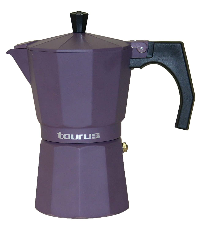 Taurus Cafetera de Vac/ío Acero Inoxidable 3 Tazas Negro