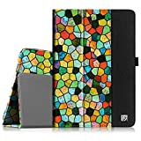 Fintie Samsung Galaxy Tab 3 10.1 Case, Folio Slim Leather Case for Samsung Galaxy Tab 3 10.1 inch Tablet Auto Sleep/Wake Book Style Stand Cover with Stylus-Loop - Stained Glass Mosaic