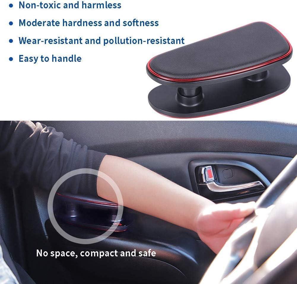 AmandaJ Breathable Soft Memory Foam Car Armrest Pad for Drivers Door Adjustable Height Comfort Armrest Driver Elbow Rest Support Pads