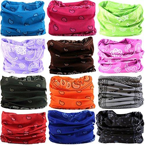 6PCS/8PCS/9PCS/12PCS Seamless headband camo bandanas headwear for men&women Neckwarmer Scarf 16-in-1 Multifunctional for Music Festivals Raves Neck Gaiter Magic Scarf Fishing Mask -
