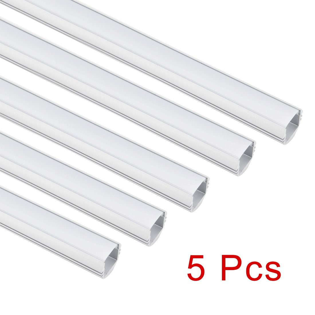 Uxcell 5pcs Cn 615 05m 183mm158mm Led Aluminum Wiring Diagram Channel System W Cover For Strip Light Installations Industrial Scientific