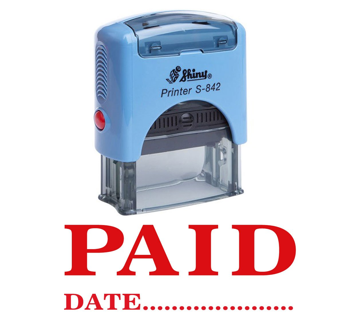 PAID WITH DATE Self Inking Rubber Stamp Office Stationery Custom Shiny Stamp