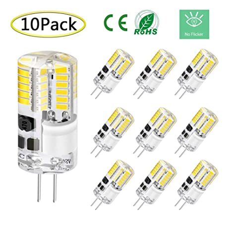G4 Dimmable Led Bulb No Flicker G4 Bi Pin 3w Led Light Bulb Lighting Equivalent 20w T3 Jc Type Halogen Bulb Ac Dc 12v Daylight White 6000k 6500k