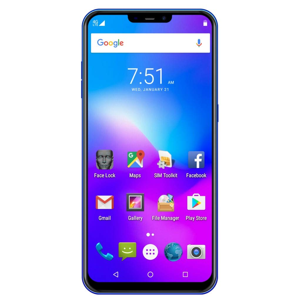 NDGDA Eight Core 6.3 inch Dual HD Camera Smartphone Android 8.1 16GB Touch Screen WiFi Bluetooth GPS 3G Call Mobile Phone (Blue) by NDGDA Smart Phone (Image #7)