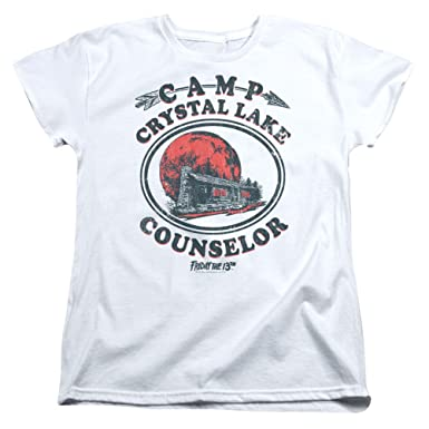06131f49fffa Amazon.com  A E Designs Ladies Friday The 13TH T-Shirt Camp Crystal ...