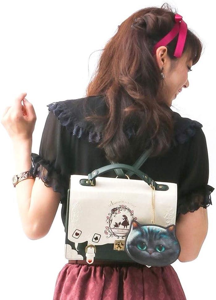 Alice in Wonderland Poker Silhouette Shoulder Messenger Bag Small Square Bag 26X22X9CM DDSS Ladies Tote Bag 4 Colors Color : #02 //-//