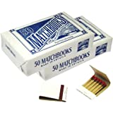 D.D. Bean & Sons Matchbooks, 50 Packs of 20 Matches, Classic White, Made in USA, 2