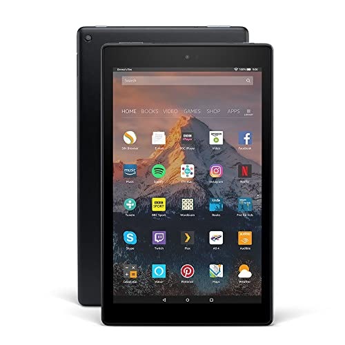 "Fire HD 10 Tablet with Alexa Hands-Free, 10.1"" 1080p Full HD Display, 32 GB, Black – with Special Offers"
