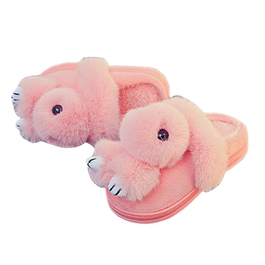 8003ce38ffd Caszel Boys Girls Toddlers Cute 3D Bunny Ultra Soft Warm Winter Household  Cotton Plush Slippers Non