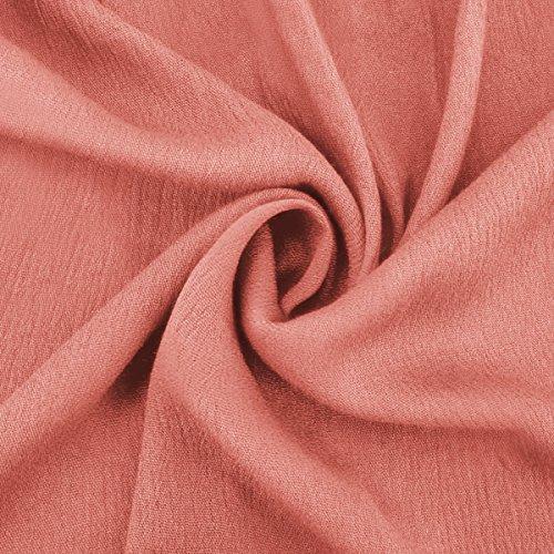 con Manica Donna Causale a con a Risvolto Pink Estiva Camicetta Barchetta Lunga Scollo da Jahurto xTwq7pp