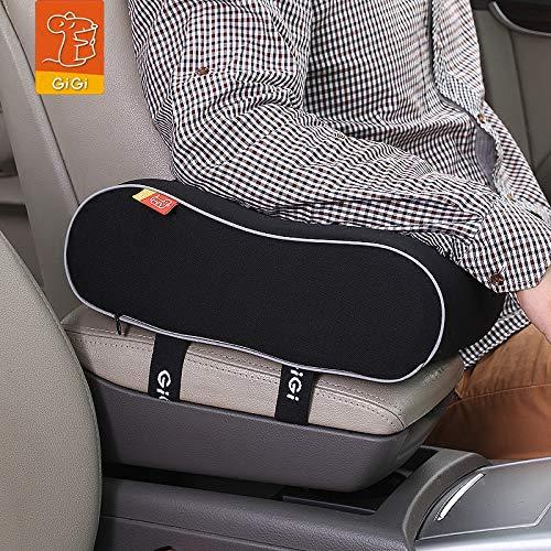 GiGi Brand Breathable Memory Foam Car Armrest Cushion Armrest Center Consoles Cushion Head Neck Rest Pillow Pad For Car Motor Auto Vehicle Office (Black)