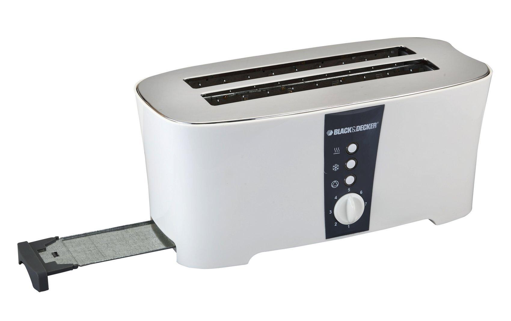 Black & Decker ET124 1350W 4-Slice Toaster (Non-USA Compliant), White by BLACK+DECKER (Image #4)