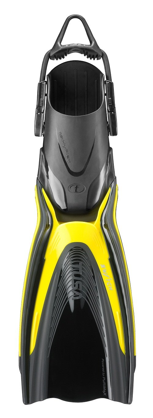TUSA SF-0104 Hyflex Switch Scuba Diving Fins, Small, Flash Yellow