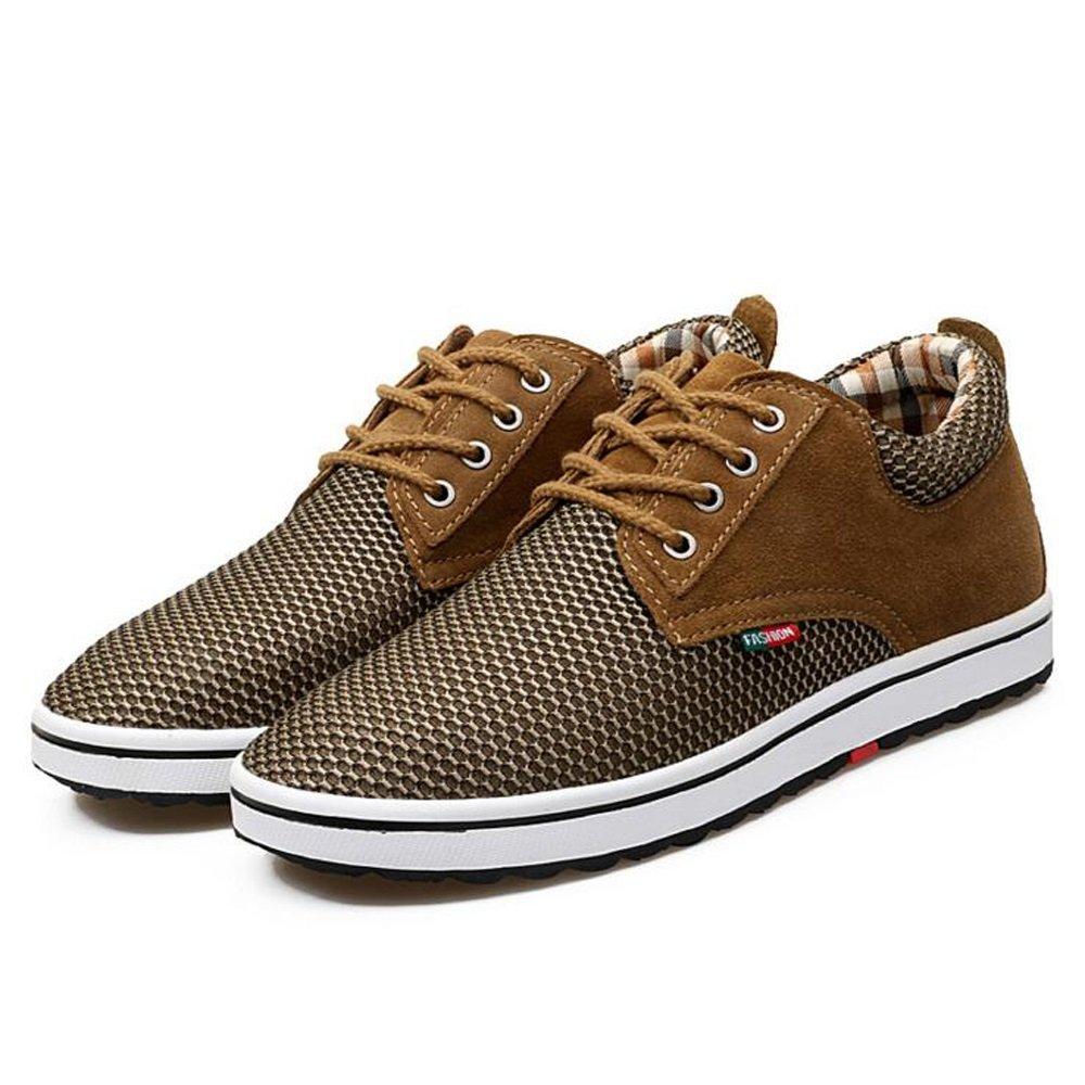 Zapatillas de deporte de malla para hombre Zapatillas de deporte atléticas que caminan Deporte Zapatillas de deporte para hombres hasta 4 colores GAOLIXIA ( Color : Brown , tamaño : 39 ) 39|Brown