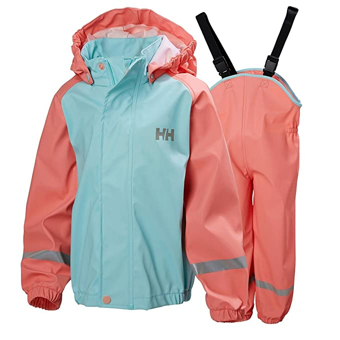cd3ea47da79 Helly Hansen Kids Unisex K Voss Rain Jacket Pants Set