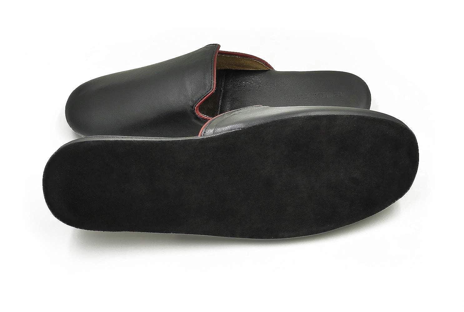 YOXI Soft Genuine Sheepskin Leather Slippers Mens Womens Lovers House Slip on Shoes