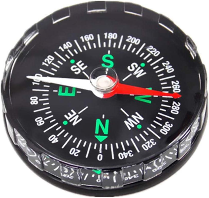 prettDliJUN 45mm Mini Compass,Liquid Filled,Camping,Hiking,Outdoor Pocket Survival Navigator