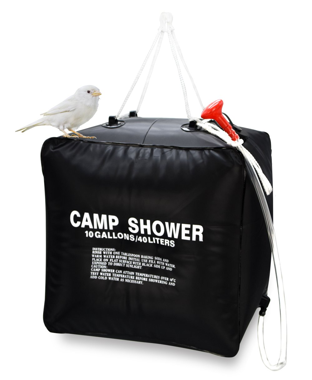 Zoeson 10 Gallon Camping Shower Bag for Hiking & Camping ZX