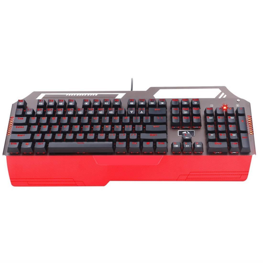 ノウ建材貿易 ゲーミングメカニカルキーボードライトストライクオプティカルスイッチ防水104キーRGBバックライト (色 : レッド)  レッド B07R4LK2X3