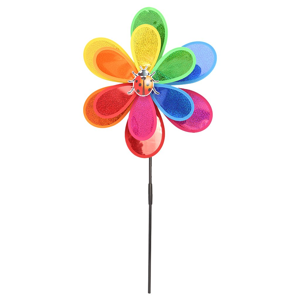 CUIGU Sequins Insect Windmill Whirligig Wind Spinner Home Yard Garden Decor Kids Toy