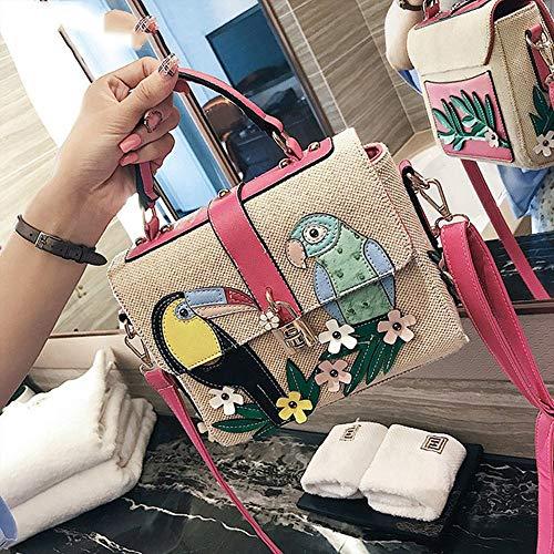 Mjfo Borse Donna Con A Floreale Tote Borsette In Da Tessuto Bianco Stampa Lino Tracolla Borsa Red Donna rH6qHwvxE