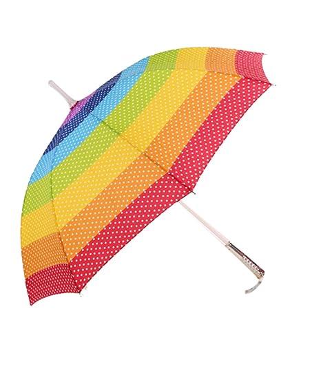 Lightsaber Umbrella Paraguas arcoiris Parasol cambiador de colores multi con construido en la antorcha LED