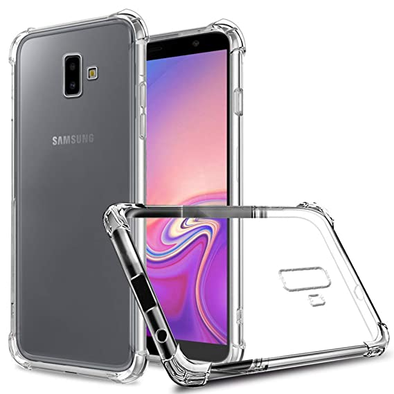 finest selection 81e89 c0cdf Galaxy J6 Plus Case, Zeking Slim Thin Anti-Scratch Clear Flexible TPU  Silicone with Four Corner Bumper Protective Case Cover Compatible for  Samsung ...