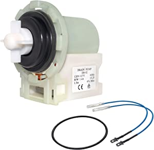 Sikawai 8540024 W10130913 Washer Drain Pump Assembly Fit for Whirlpool Kenmore Washers Replaces AP6023956,W10130913,W10730972,8540025