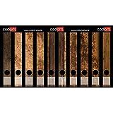 Set 10pezzi raccoglitori sottili di etichette autoadesive raccoglitori Sticker Adesivo legno rustico vintage design marrone effetto legno
