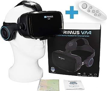 VR Primus® VA4, Gafas VR movil con Auriculares y Google Cardboard ...