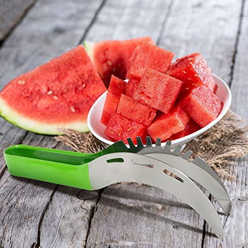 Premium Top Rated Watermelon Slicer As Seen On TV - Large Convenient Stainless Steel Cutter & Knife - Easy To Use - Eco & Kids friendly