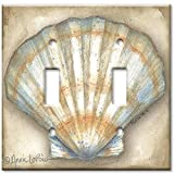 Art Plates - Clam Shell Switch Plate - Double Toggle