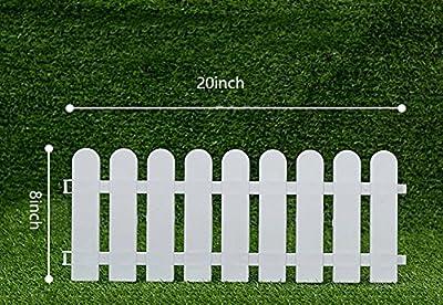 V Protek 4Pack Garden Patio Plants Decorative Landscape Palstic Edging Fence White Flexible Round 20''8''