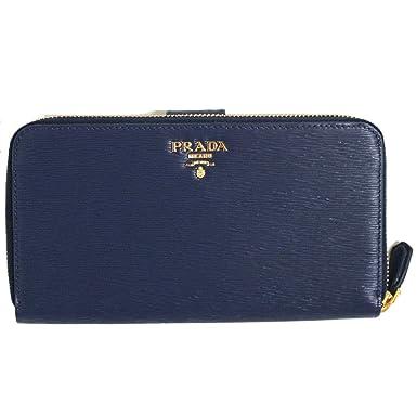 4e62fe054bce3a ... closeout prada womens navy blue vitello move full zip wallet 1ml348  2e881 d295b