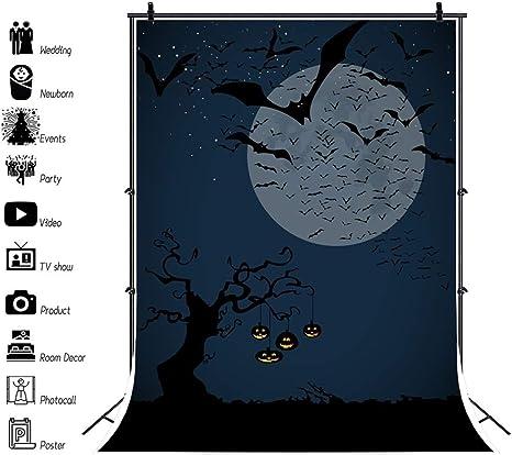 Oerju 1x1 5m Halloween Thema Hintergrund Dunkelheit Kamera