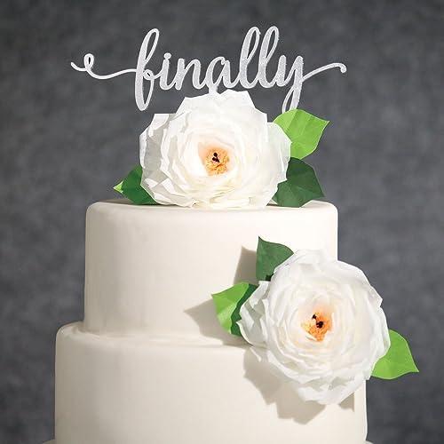 Amazon wedding cake topper silver finally cake topper funny wedding cake topper silver finally cake topper funny cake toppers engagement party cake junglespirit Image collections