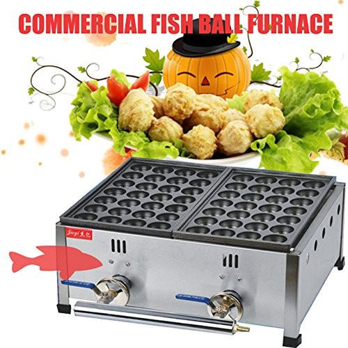 Two Board Commercial Gas Takoyaki Maker Furnace Fish Balls Octopus Small Meatball Machine Baking Pan (FY-1112)