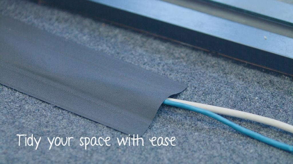 Secure Cord Cable Management System for Carpeted Surfaces, Removable and Reusable