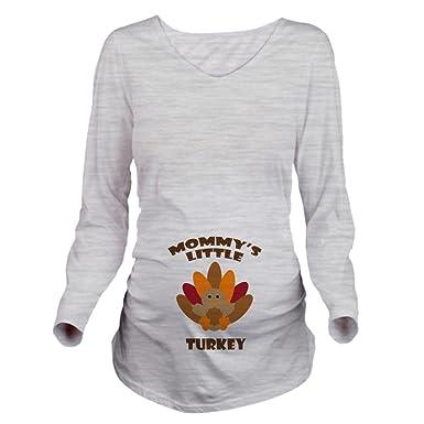 50b683d7 CafePress Mommys Little Turkey Long Sleeve Maternity T-Shirt Long Sleeve  Maternity T-Shirt