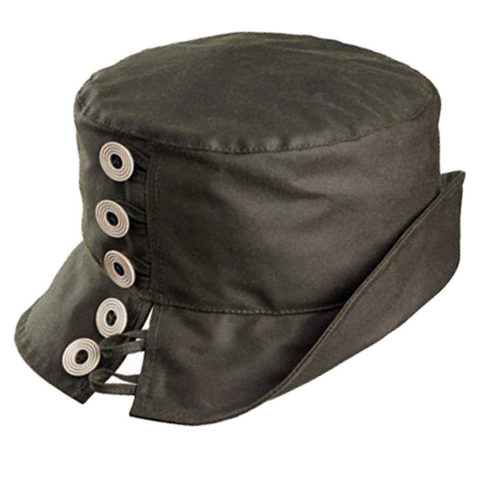 Olney Lynda Waterproof Wax Hat (Olive)