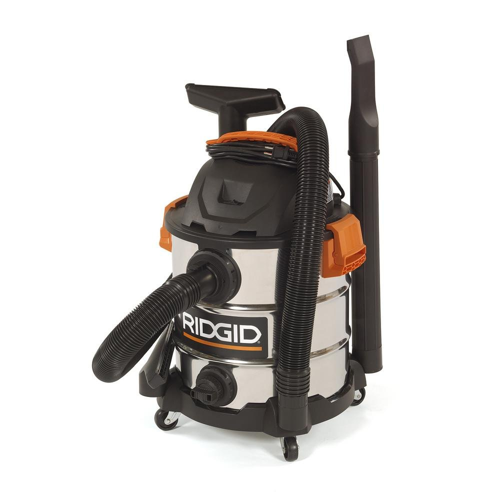 RIDGID 10 Gal. 6.0 Peak HP Stainless Wet Dry Vacuum WD1060 Vac + Toucan City Tile and Grout Brush by Ridgid + Toucan City (Image #4)